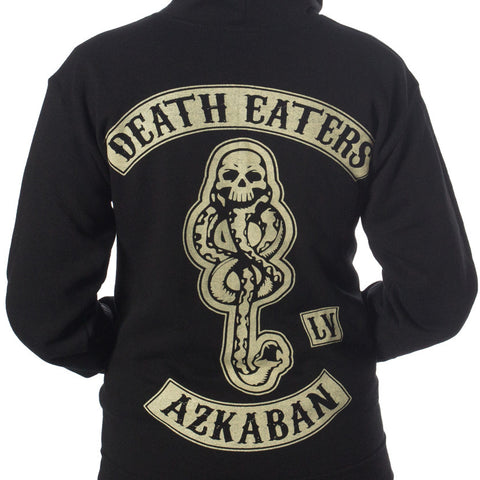 Death Eater Hoodie - Harry Potter x Sons of Anarchy mashup - Black Biker Style Design