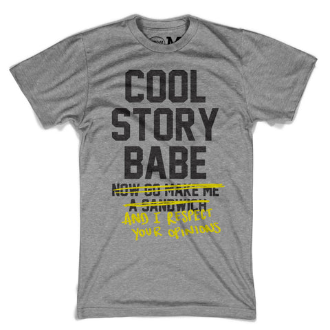 Cool Story Babe - Unisex Heather Grey T-Shirt