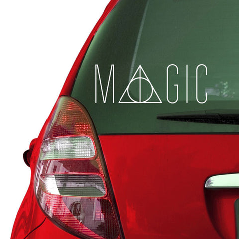 Magic Deathly Hallows Sticker