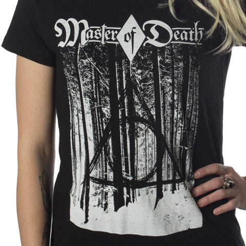 Master of Death - Deathly Hallows Black Metal Style Shirt - Black - Unisex