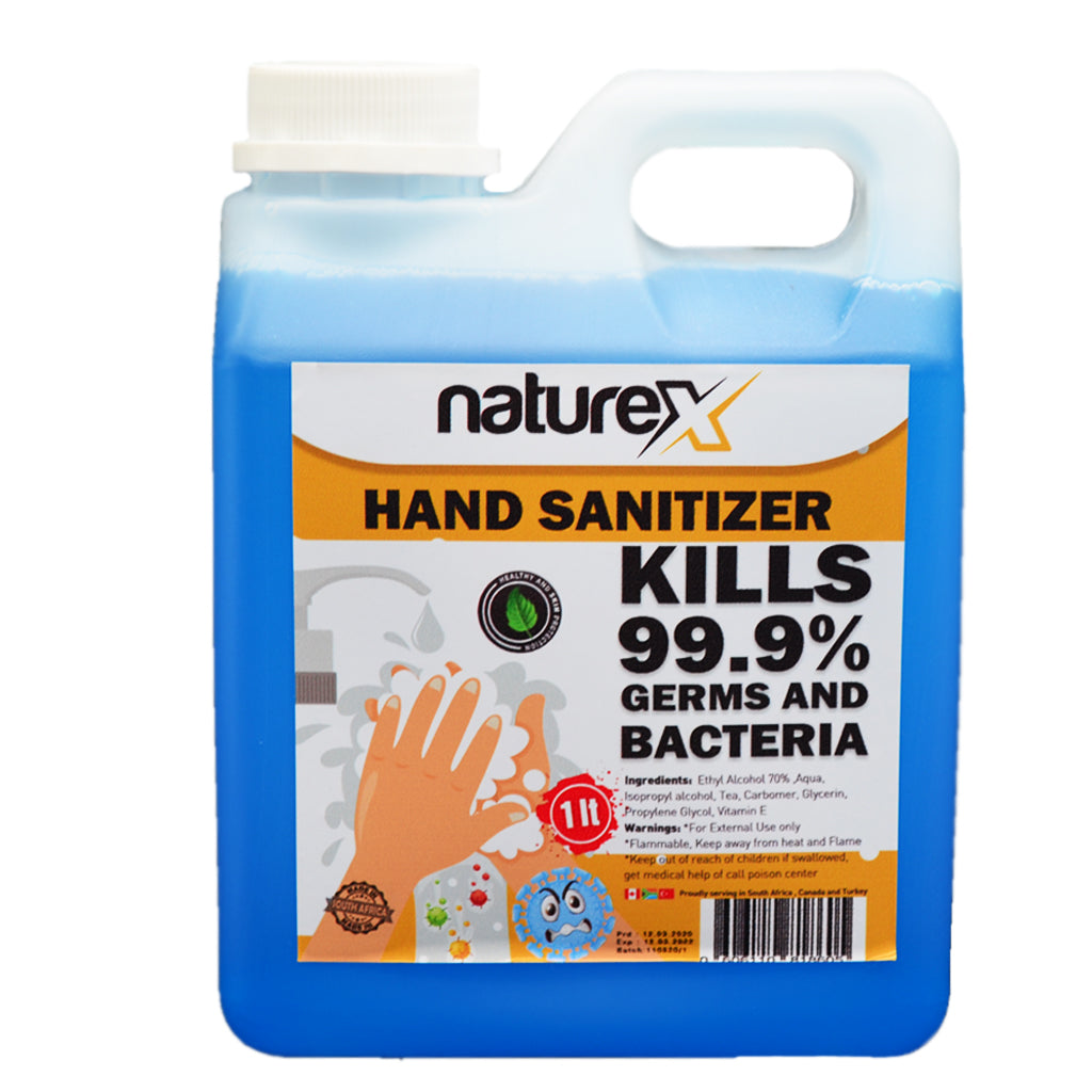 NATUREX HAND SANITIZER 70% ALCOHOL LIQUID - 1L