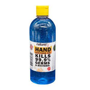 NATUREX HAND SANITIZER GEL 70% ALCOHOL 500 ML