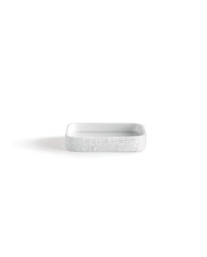DKNY Ripple Soap Dish+White+One Size