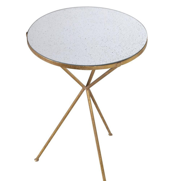 Gold Tripod Lamp Table