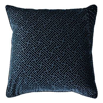 Florence 55x55cm Feather Filled Cushion Navy