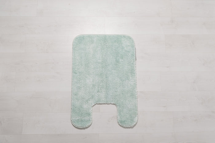 Hotel Royal Living Nylon Contour Bath Mat Aqua  21X34CM