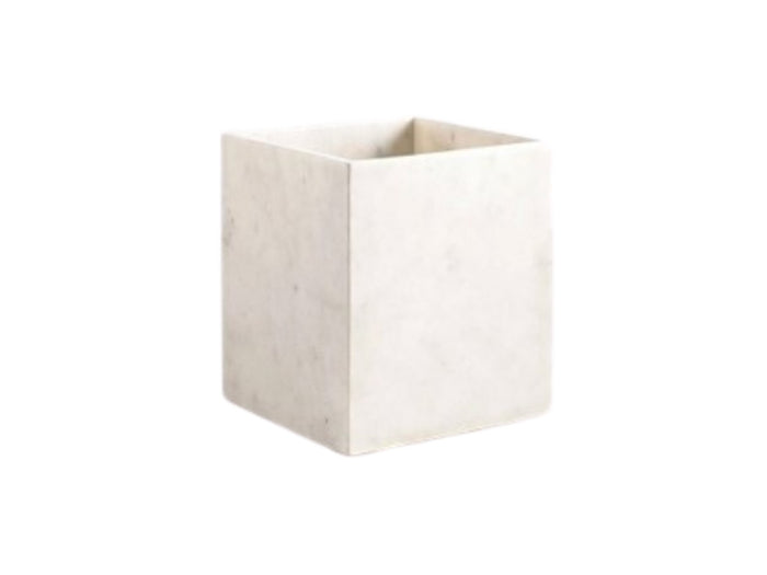 Pietra waste basket WHITE One Size