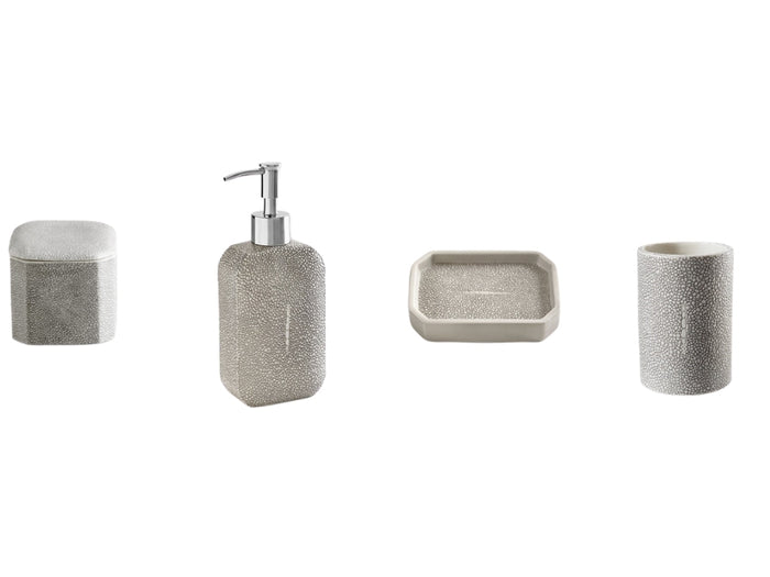 SHAGREEN Lotionpump soap dish canister tumbler Grey One Size