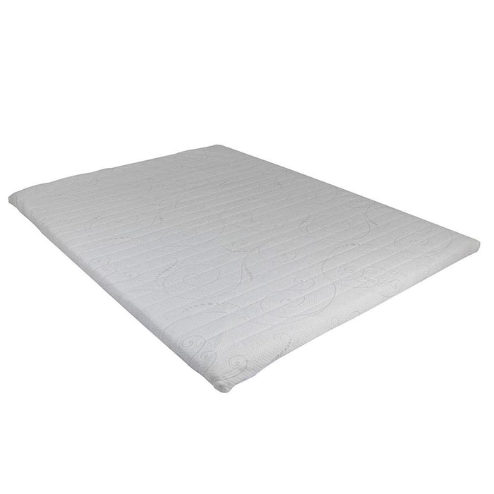 GEL MEMORY FOAM MATTRESS TOPPER 150x200+White+150x200x5cm
