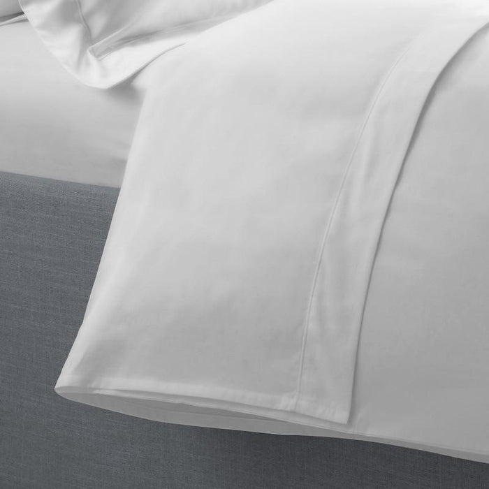 SILENTNIGHT FLAT SHEET 400TC 290x280cm+White+290x280cm