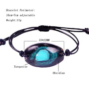 Orgonite Bangle Natural Turquoises Energy Bracelet