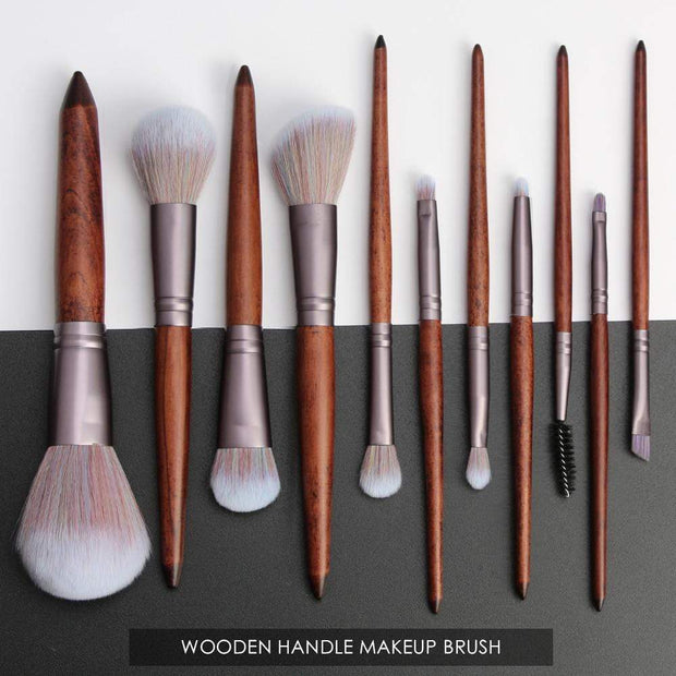 Professional Sandalwood Look Makeup Brush Set - My EpiGLOW