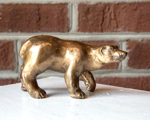 Bronze bear sculpture by Locals artist Jeanie Stephenson