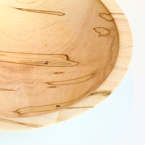 Ambrosia maple bowl by Locals woodturning artist Bill Mauzy