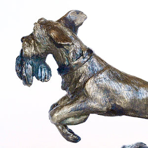 Bronze dog sculpture by Locals artist Jeanie Stephenson