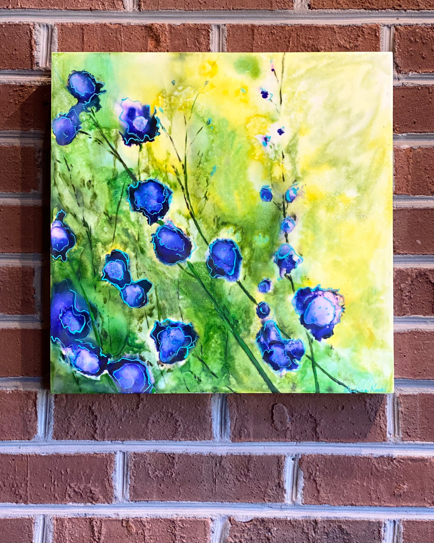 Encaustic wall art by Locals artist Nadine Koski