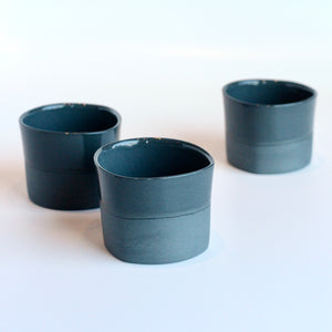 Cocktail cups by Locals artist Bean and Bailey Ceramics