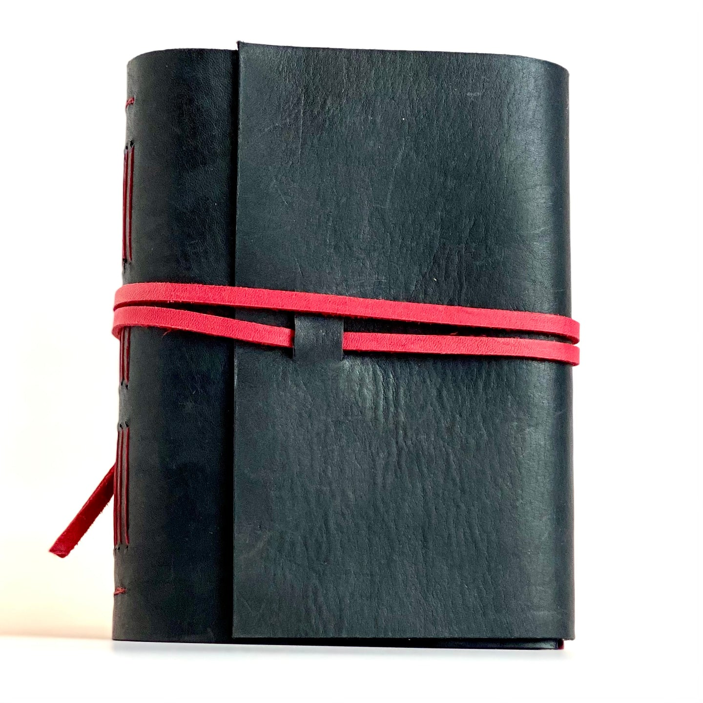 Handmade leather journal by Locals artist Nancy Wallace