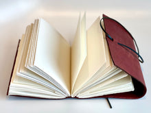 Load image into Gallery viewer, Handmade leather journal by Locals artist Nancy Wallace