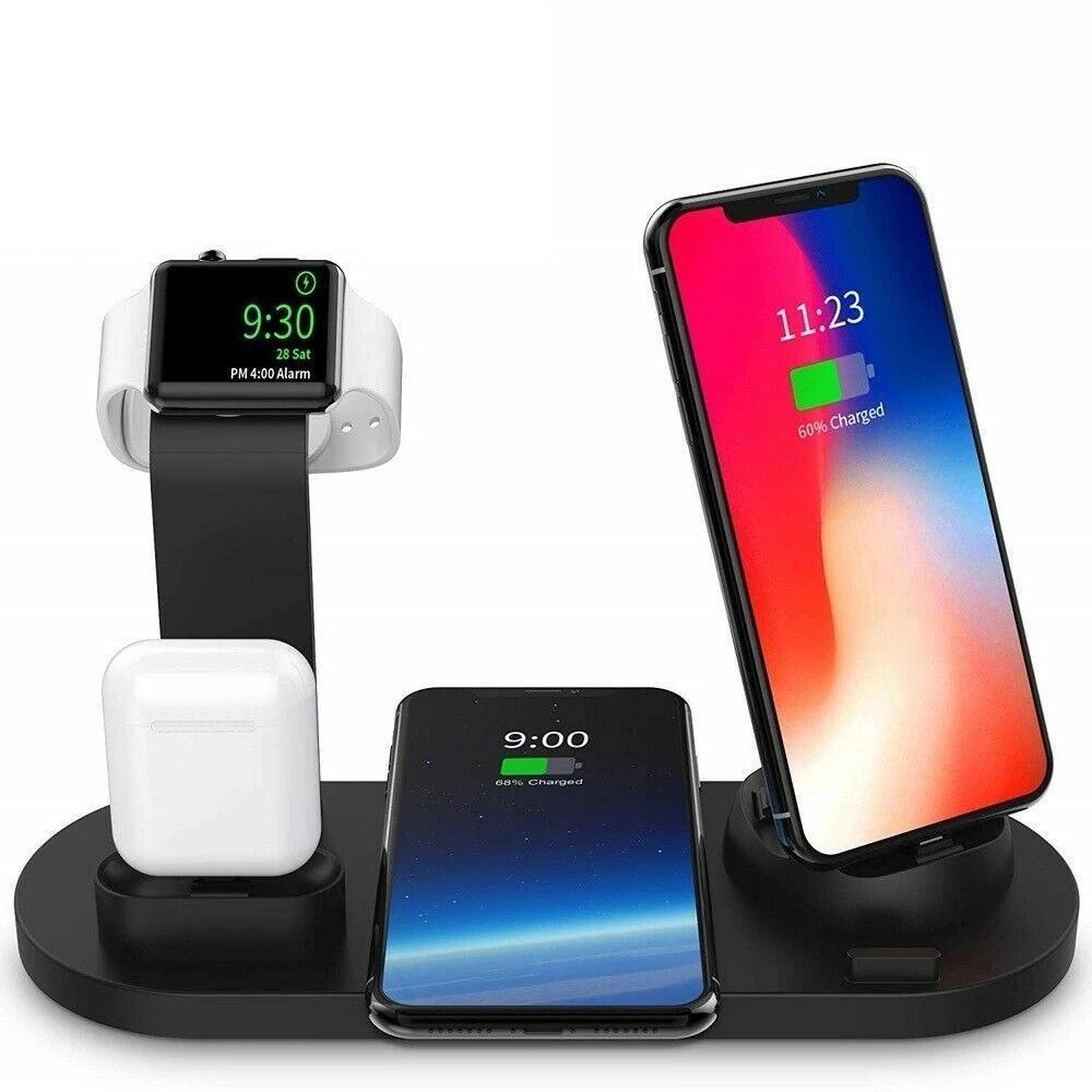 10W Qi Wireless Charging Station 4 in 1 Iphone Airpods Apple Watch - nerdygeektoys.com