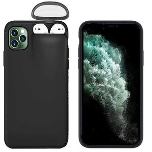 2 in 1 Case for iPhone with holder for AirPods - nerdygeektoys.com