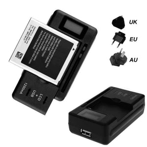 Universal Battery Charger LCD Indicator Screen For Cell Phones USB-Port - nerdygeektoys.com