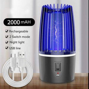 2020 New 2 in 1 USB Rechargeable Mosquito Killer Lamp LED Bug zapper - nerdygeektoys.com