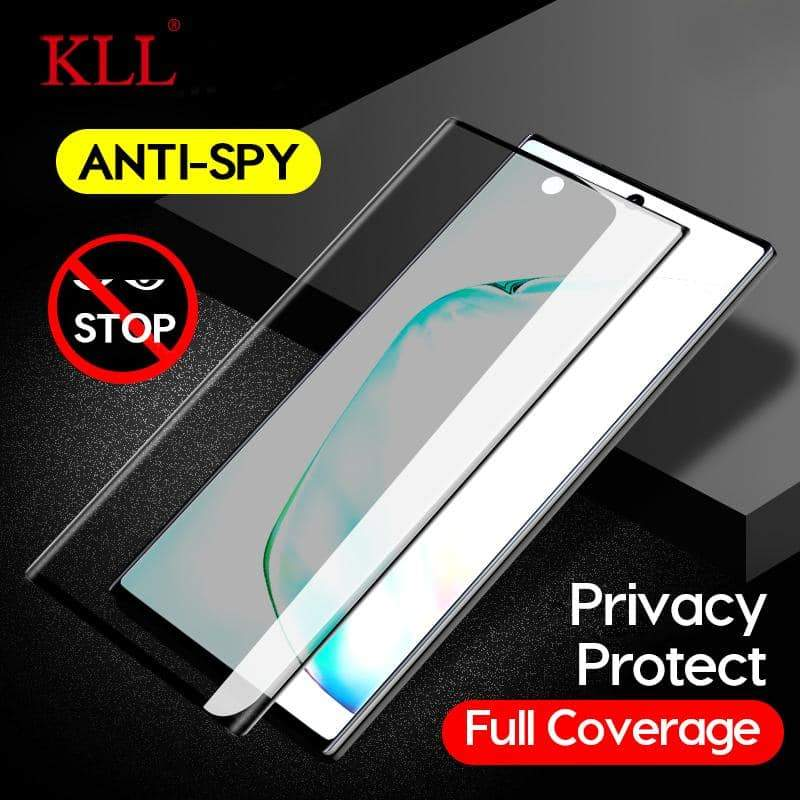 3D Curved Anti-spy Tempered Glass for Samsung Note 10 9 8 Privacy Screen Protector Anti-Peep Film for Galaxy S10 S9 S8 Plus S10e - nerdygeektoys.com