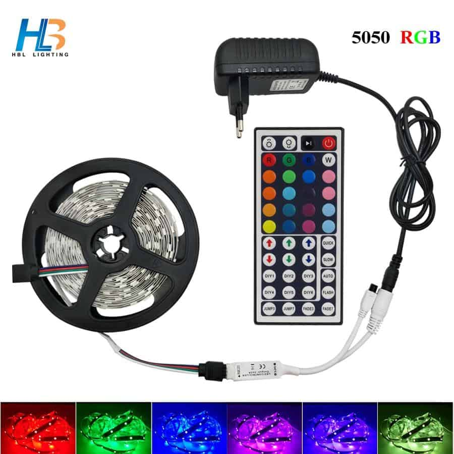 5M 10M 15M 5050 Led Strip RGB Led Strip Light With IR Remote - nerdygeektoys.com