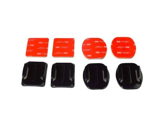 Adhesive Mounts For GoPro 7 6 5 4 3 Curved Flat Mounts 3M Sticky Pads for Go Pro Xiaomi Yi SJCAM Action Camera Helmet Board Car - nerdygeektoys.com