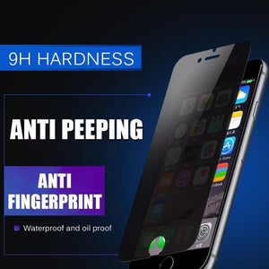 Anti Spy Privacy Glass For iPhone 7 6 6S 8 Plus X XS XR - nerdygeektoys.com
