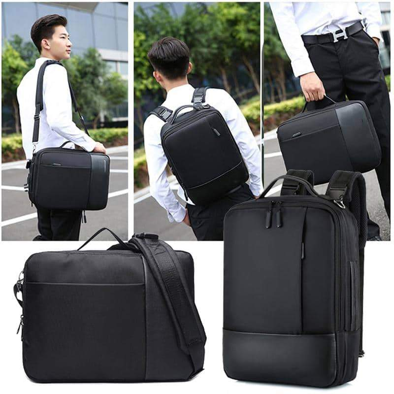 Business Anti Theft Backpack Men Smart Laptop Bagpack USB Charger Male Shoulder Bag 15.6 Inch Notebook Pack Pack Men's Black Bag - nerdygeektoys.com