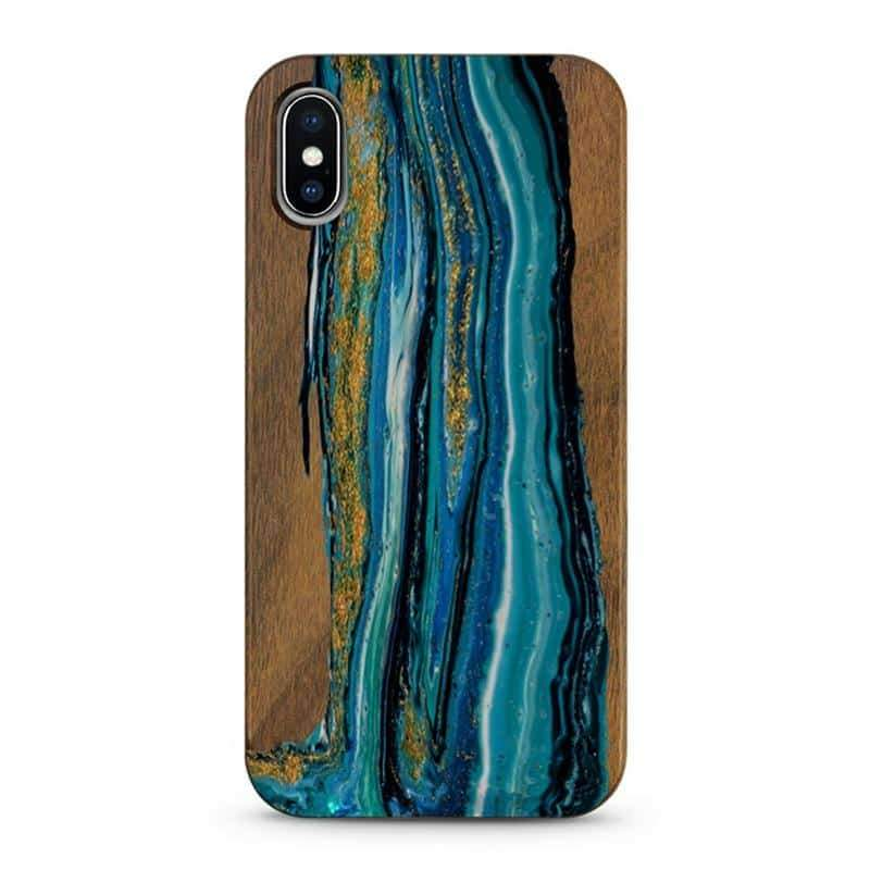 Custom Painted Real Wood Phone Case For IPhone - nerdygeektoys.com