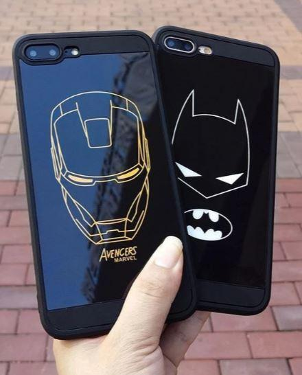 DC & MARVEL Ultra Durable Tempered Glass Case - Batman / for iphone 7 plus - nerdygeektoys.com