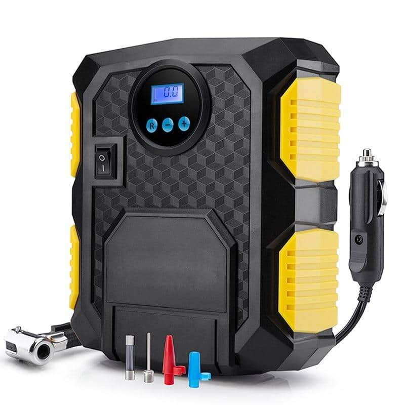 Digital Tire Inflator DC 12 Volt Car Portable Air Compressor Pump 150 PSI - nerdygeektoys.com