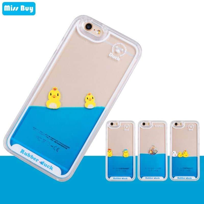 Duck Quicksand Silicone Case For Samsung galaxy and iphone - nerdygeektoys.com