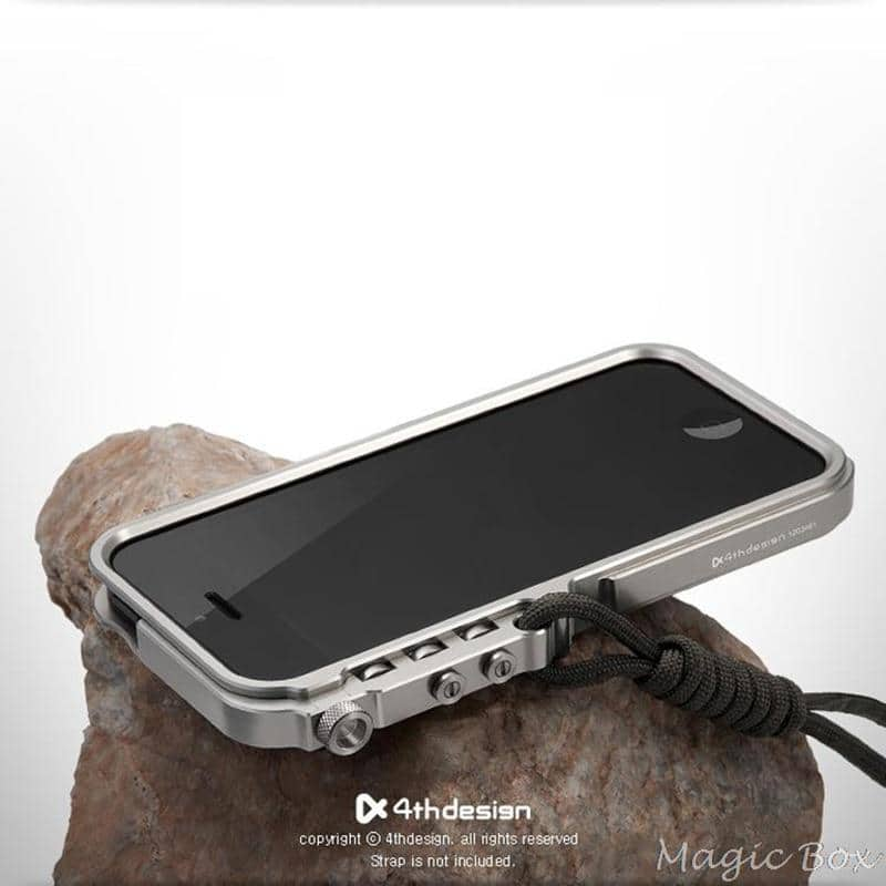 For Apple iPhone 5 5S SE Case Luxury Robot Buckle Metal Shockproof Premium Aluminum - nerdygeektoys.com
