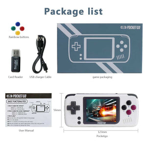 Game Console,PocketGo,Video Game Console Retro Handheld, with memory card - nerdygeektoys.com