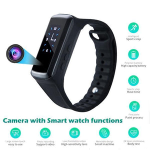 HD 1080P Smart Bracelet Camera Mini Camera Wristband 14.2 Million Pixels Wearable Device Bracelet Cam - nerdygeektoys.com