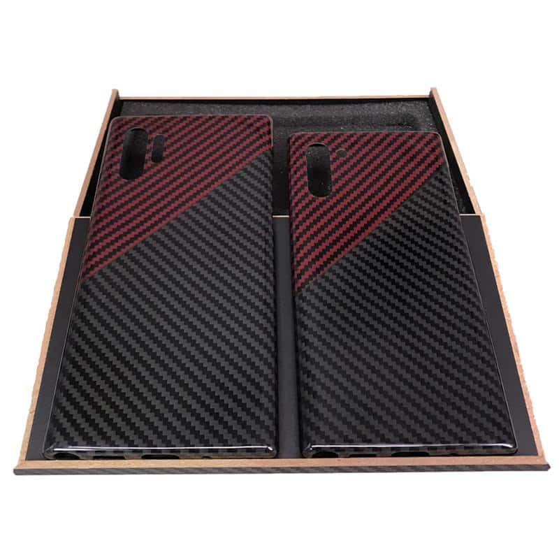 Hand crafted real carbon fiber mobile phone case for Samsung Note 10+ - nerdygeektoys.com