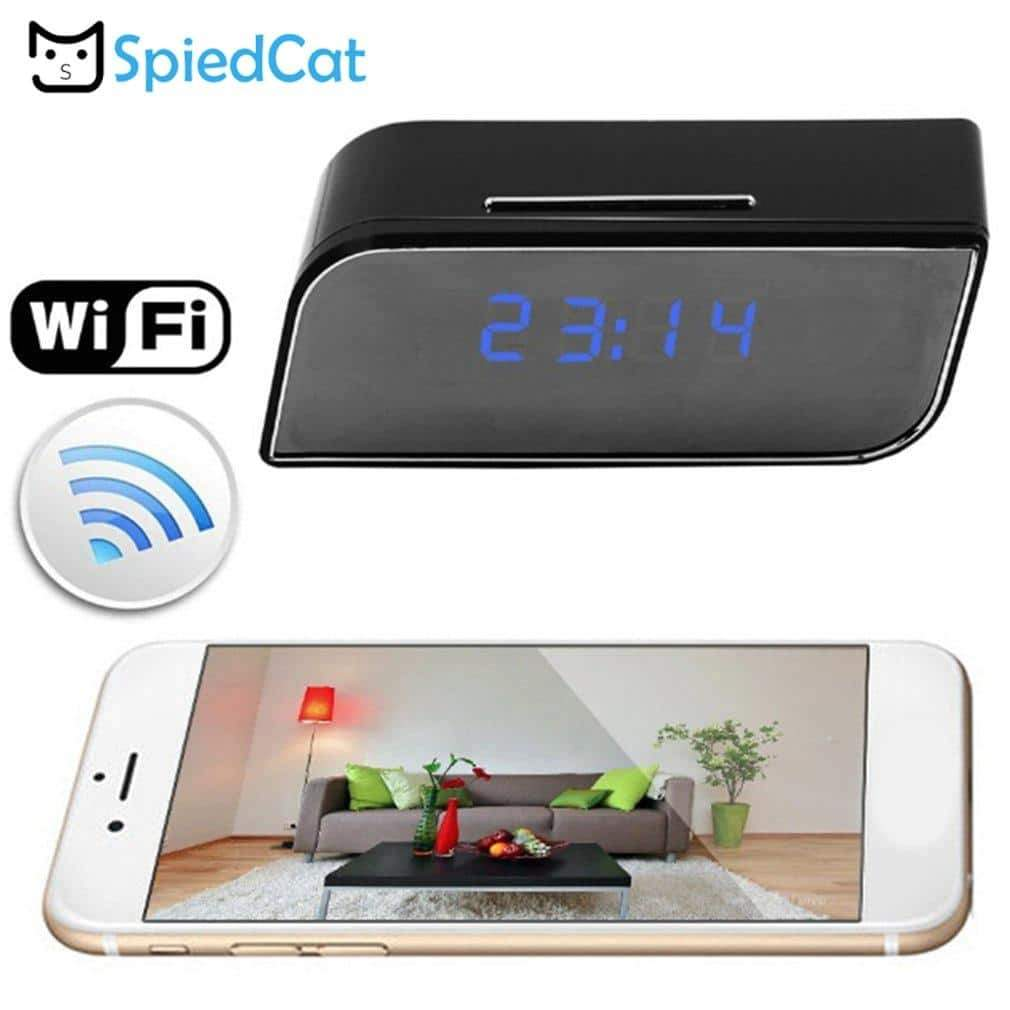Home Security Mini Camera 1080 Full HD Alarm Clock Night Vision Motion Detection Wifi DVR - nerdygeektoys.com