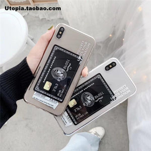 Hot American Express Card Transparent Soft silicon cover case for iphone 6 S 7 8plus 7plus plus 8 X XR XS Max 11 Pro phone coque - nerdygeektoys.com