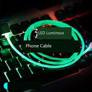LED Luminous Charging Cable All Devices - nerdygeektoys.com