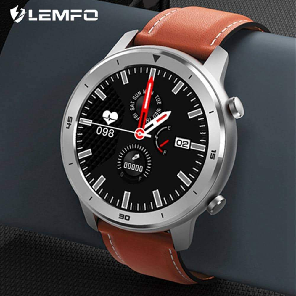 Smart Watch IP68 Waterproof Men Full Round Touch Heart Rate Blood Pressure - nerdygeektoys.com