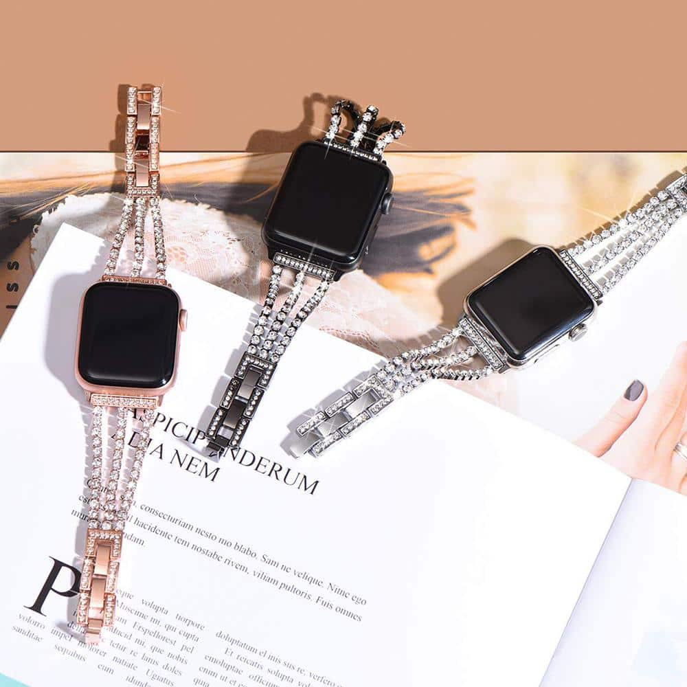 Luxury Chain with Diamonds Replacement Strap for Apple Watch - nerdygeektoys.com