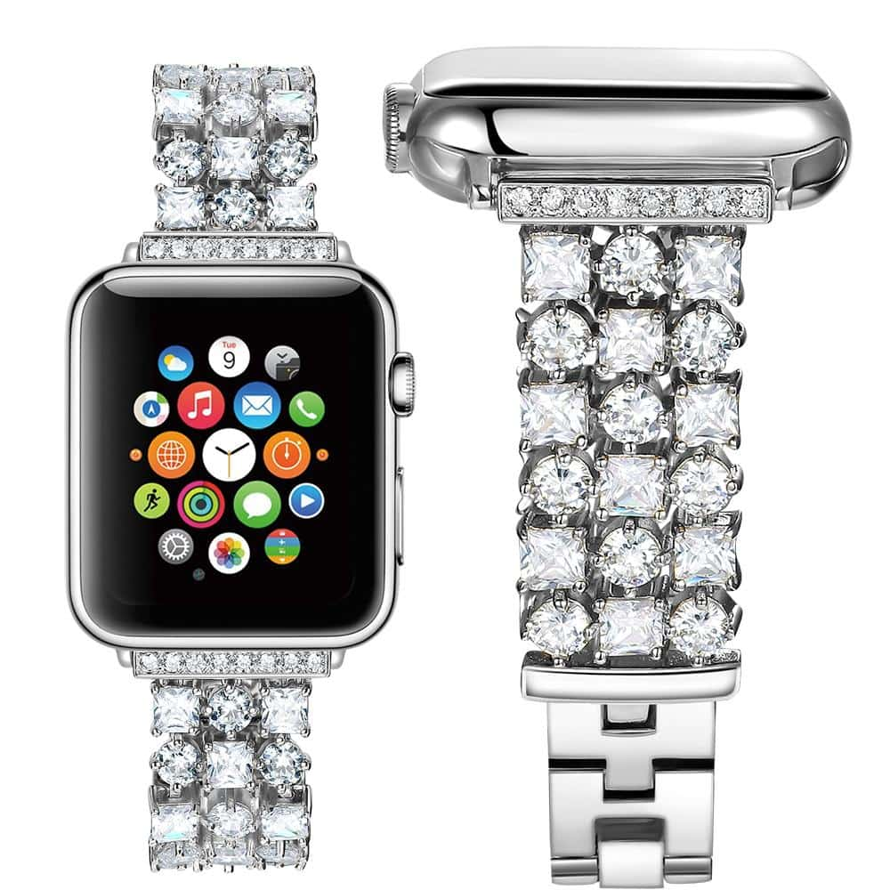 Luxury Diamond strap band for apple watch series 5 & 4 - nerdygeektoys.com
