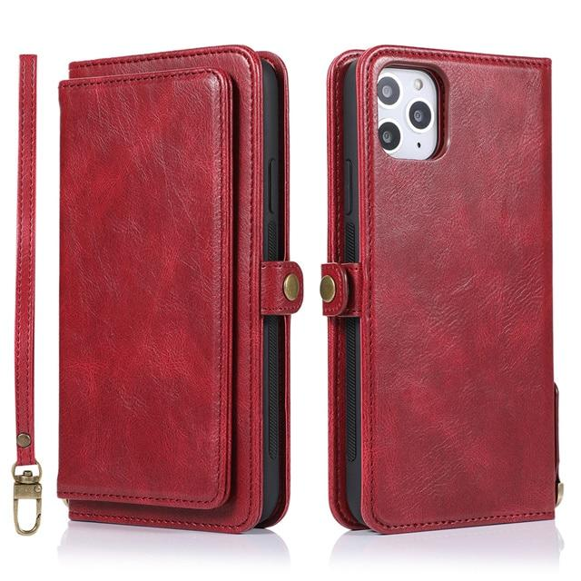 Luxury Flip Wallet Case For iPhone 6,7,8,11 Pro Max Leather Cover For iphone - nerdygeektoys.com