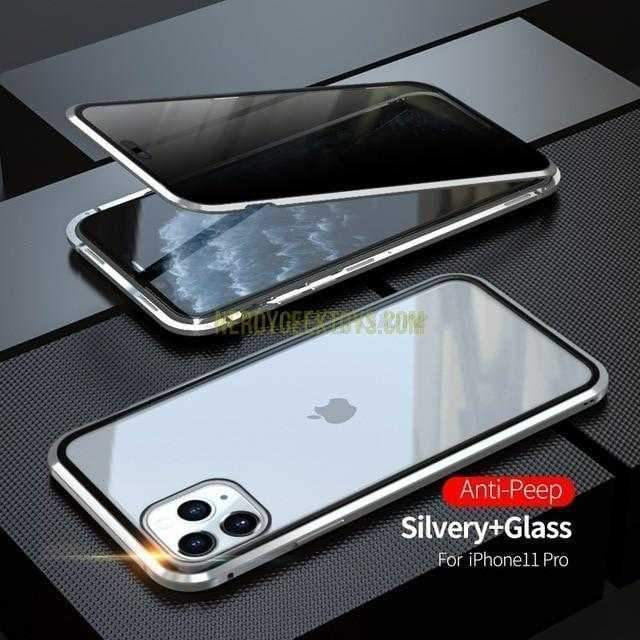 Magnetic Privacy Glass Case For Samsung Galaxy and IPhone - nerdygeektoys.com