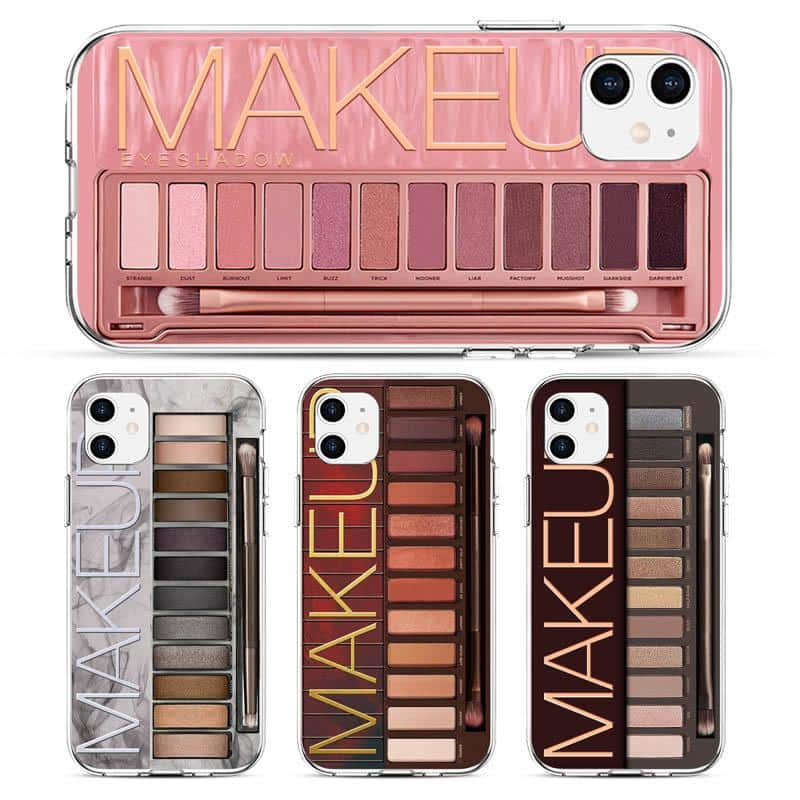 Makeup Eyeshadow Palette Phone Case For iPhone 11Pro Max XR XS Max matte Soft Silicone Cover For iPhone 7 8 6S Plus 8Plus 7Plus - nerdygeektoys.com