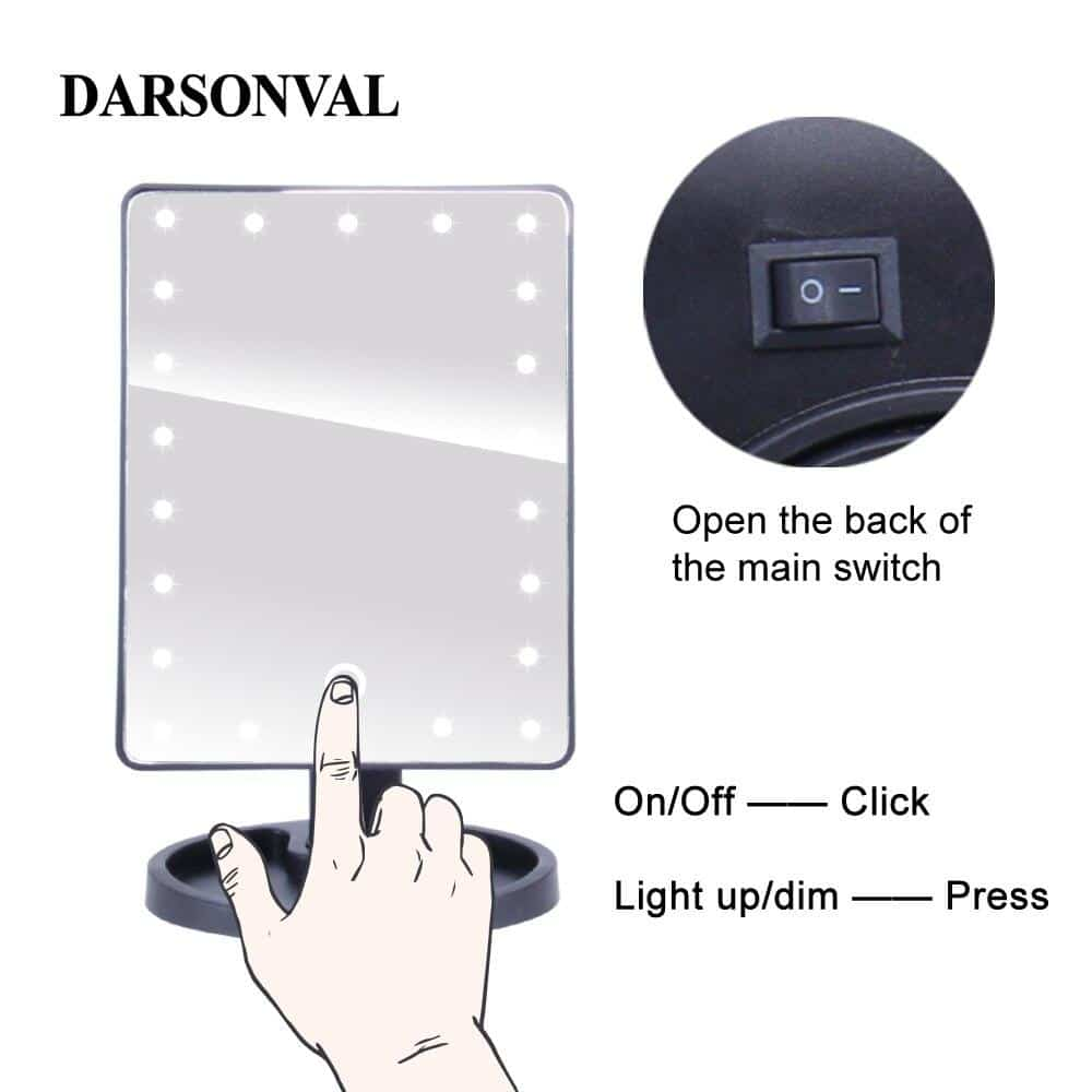 Makeup Mirror With Adjustable LED Light - nerdygeektoys.com